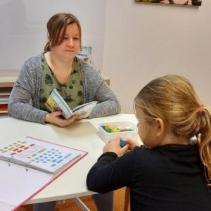 Dyslexie taal in blokjes